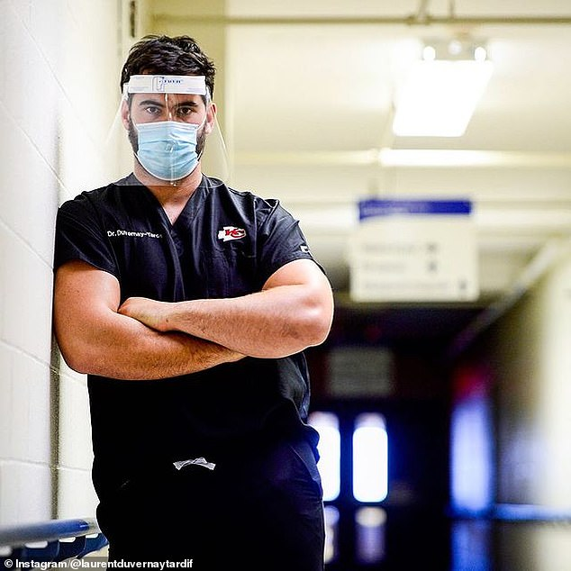 Duvernay-Tardif is now on the front lines of the battle against coronavirus by working as an orderly at a long-term care facility in his native Quebec, where he earned his medical degree