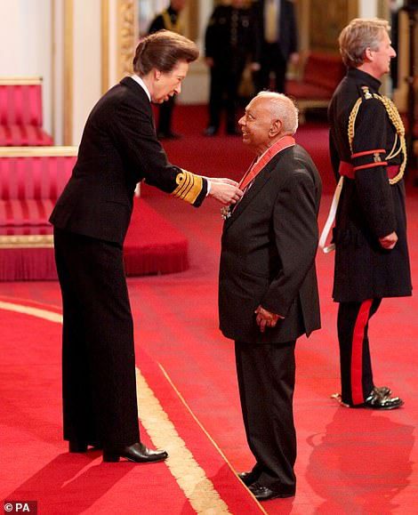 Dr Shuklaa was awarded an OBE for his race relations work in his home city of Newcastle