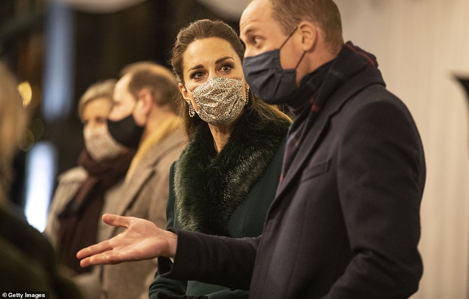 Catherine, Duchess of Cambridge and Prince William, Duke of Cambridge thank volunteers and key workers at Windsor Castle