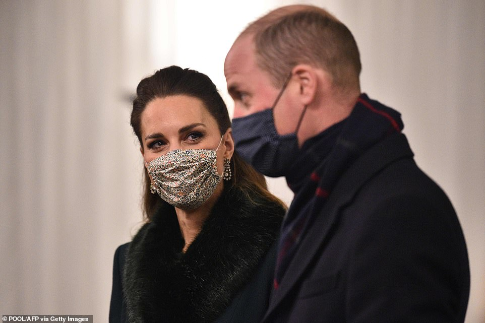 William and Kate attending the event to thank local volunteers and key workers for the work they are doing during the coronavirus pandemic and over Christmas in the quadrangle of Windsor Castle