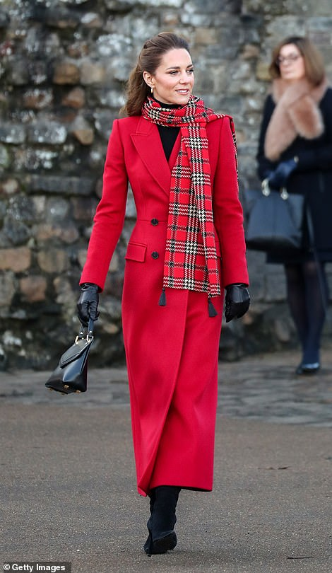 Kate arrives in Cardiff