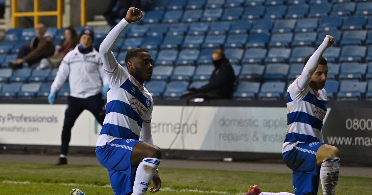 QPR star Ilias Chair celebrates goal by taking knee in front of Millwall fans