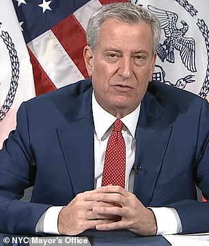 NYC Mayor Bill de Blasio said he expects new limits on the city within days