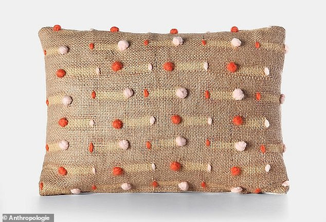 Chillin': The daybed is piled high with throw pillows, the sum total of which cost a small fortune. They include this$345 Charlie Sprout Bonded Pillow from Anthropologie