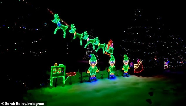 'Sarah! I loved your family's Christmas lights show!!! Thank you (and your dad) so much for using 'Christmas Tree Farm' to create such a fun spectacle. I really love how you've chosen to give back by mentioning your local food bank,' Taylor messaged her fan, after seeing the light display
