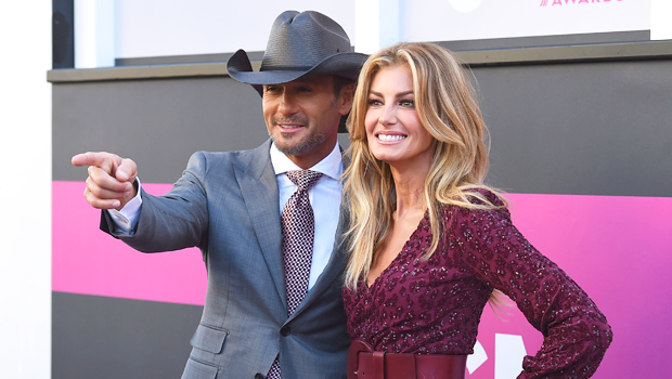 Tim McGraw Jokes Faith Hill Is Trying To Kill Him As He Decorates Gigantic Christmas Tree On A Ladder