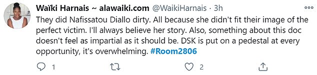 Viewers were shocked by the interviews in the documentary, which were in favor of DSK and expressed their sympathy for Diallo