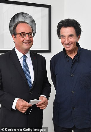 Former French Culture Minister Jack Lang, right, pictured in 2020 with former French President Francois Hollande, praised DSK's intellect in the documentary and asked 'should a president not be a sensual man'