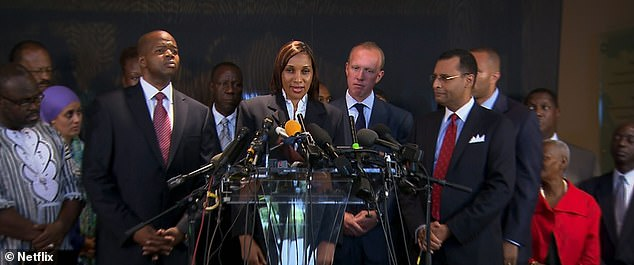 Nafissatou Diallo and her lawyers during a press conference in the summer of 2011 in the midst of her court case against DSK