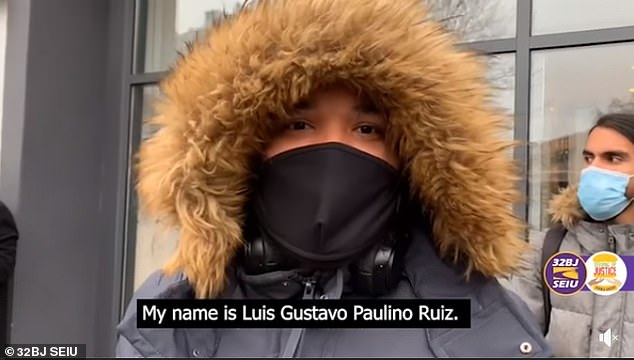 On Tuesday, employee Luis Gustavo Paulino Ruiz claimed he was attacked by one of the rats after being sent in by managers to clean the store