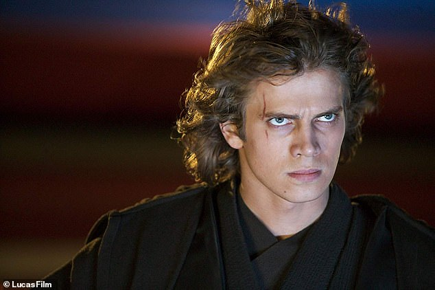 Comeback: Hayden Christensen as Anakin Skywalker-turned-Darth Vader in 2005's Revenge of the Sith - a role he will reprise in a new Obi-Wan Kenobi spinoff