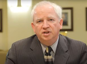 Attorney John Eastman, pictured above, who filed the motion for Trump to intervene in the Texas lawsuit, penned an op-ed this summer doubting whether Vice President-elect Kamal Harris was eligible for office despite her being born in California