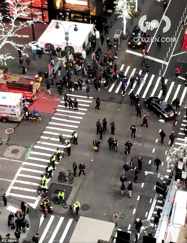 According to initial reports from the scene, a motorist plowed into a group of protesters at an intersection near Lexington Avenue and 39th Street on Friday just after 4pm