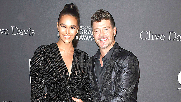 April Love Geary Gives Birth: Robin Thicke & Fiancee Welcome 3rd Child Together