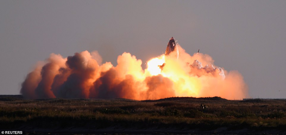 The mishap comes just three days after SpaceX's SN8 prototype completed its first high-altitude flight of 41,000 feet that ended with exploding once it returned to the ground
