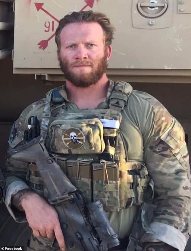 Sgt. First Class Mark Leshikar (pictured) was shot dead by Lavigne in March 2018 by Lavigne Cops said the shooting was justifiable despite inconsistencies in Lavigne's story
