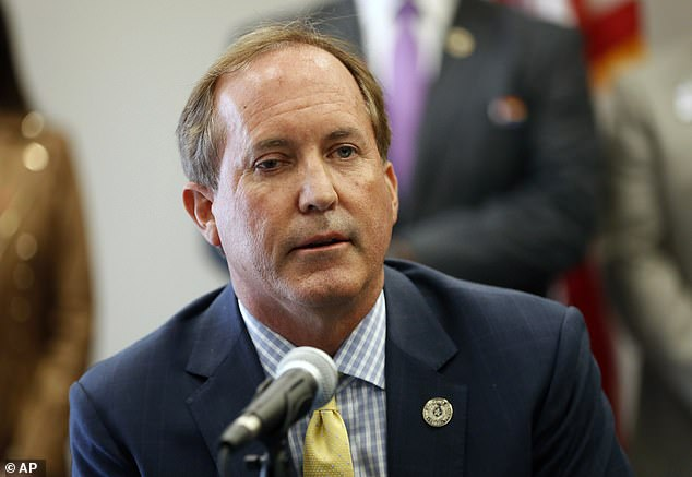 Texas Attorney General Ken Paxton, pictured at the Austin Police Association on Thursday Sept 10, led a failed bid in Texas to overturn the election result