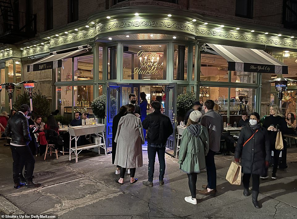 Diners were pictured descending on their favorite foodie hospots across New York City Saturday night to bag a table inside for what is likely to be the last time in 2020