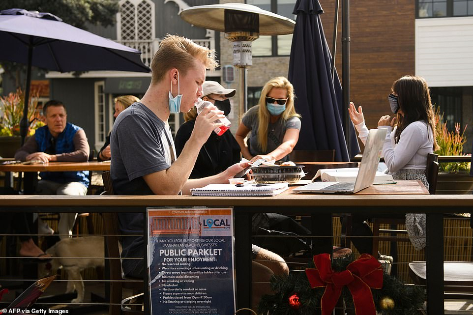In Manhattan Beach, Los Angeles County, city officials have been working with restaurants and the public to create spaces where people can effectively dine outdoors but that falls within the scope of the outdoor dining ban in the county