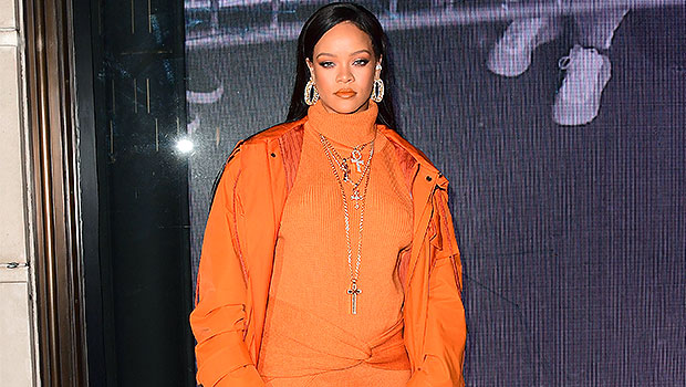 Rihanna, Ariana Grande & More Stars Rocking Sweaters As Dresses In Colder Weather