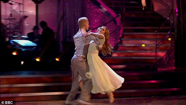 Enchanting: The pair's second dance, the Viennese Waltz to A Thousand Years by Christina Perri was just as impressive, with the two getting just shy of the the perfect 30 with 29 points