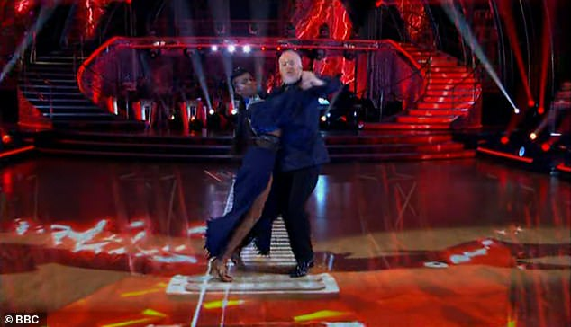 Go for it:His second dance was a Strictly first, with the star performing a Tango to the song Enter Sandman by Metallica