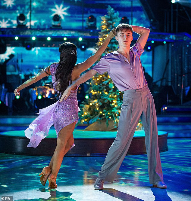 Sensual:YouTube star HRVY and Janette Manrara kicked off with the notoriously difficult (for the male) Rumba, dancing to Only You by Kylie Minogue and James Corden