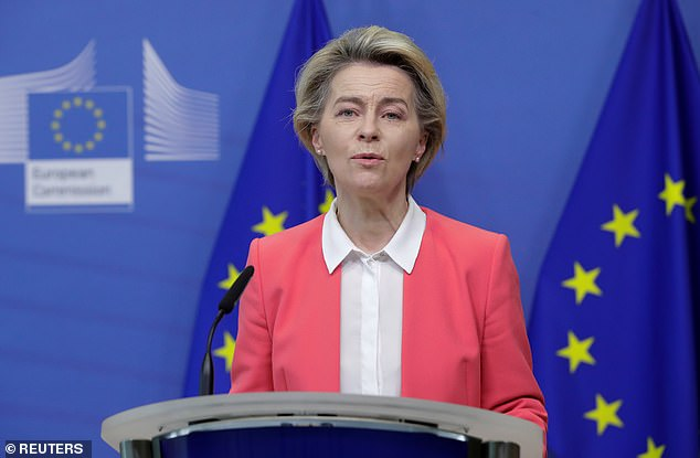 Ursula von der Leyen (pictured) might be slightly bossy ¿ but the good thing from your point of view is that she is not French but German