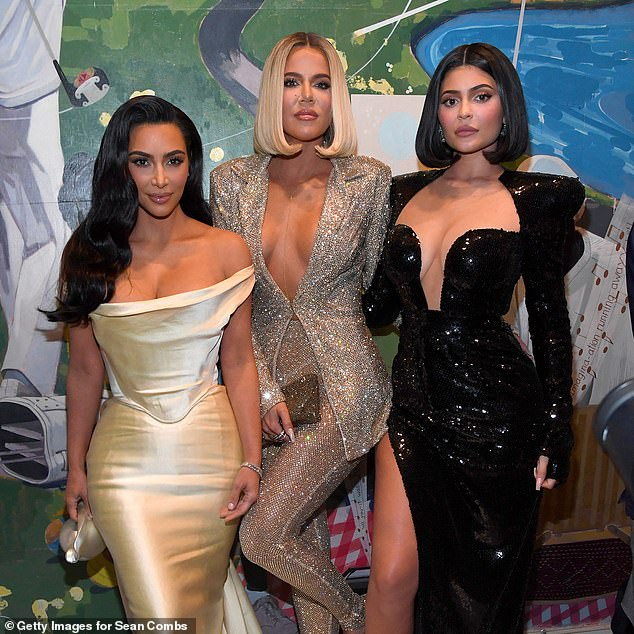 Ties: While the family has no known ancestral ties to New Zealand, Khloé recently confirmed a new business partnership involving a Kiwi company. Pictured (L-R): Kim Kardashian West, Khloé Kardashian and Kylie Jenner on December 14, 2019, in Los Angeles