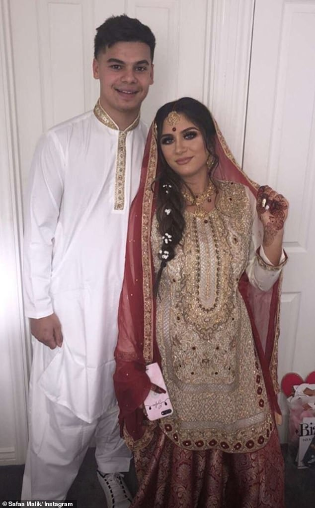 Marital bliss: Safaa and Martin married in a traditional Nikkah ceremony on September 16