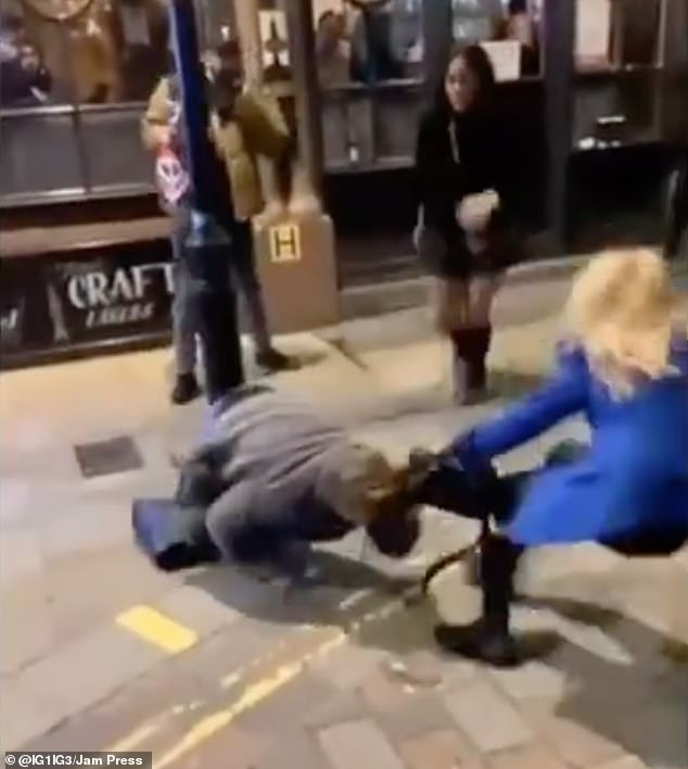 The two women attacked the third one outside an Oxford Street pub on Saturday December 12