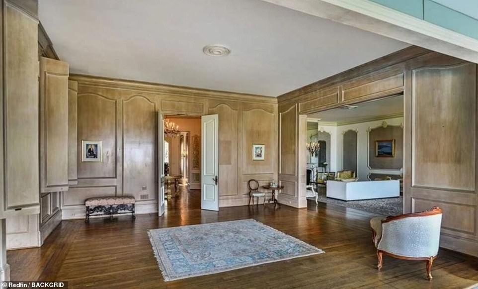 Gabor's house was once used as Liberace's fictional home in the 2012 biopic, Behind the Candelabra. A view from inside