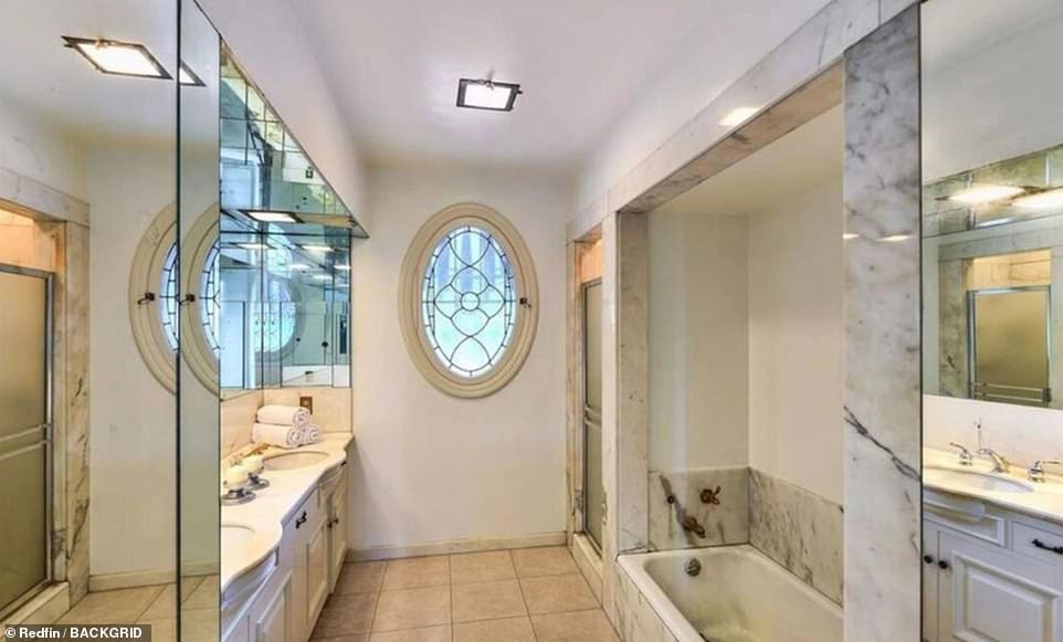 Another vintage-looking bathroom. It's unknown if Friedland, the new homeowner, will renovate the home or tear it down