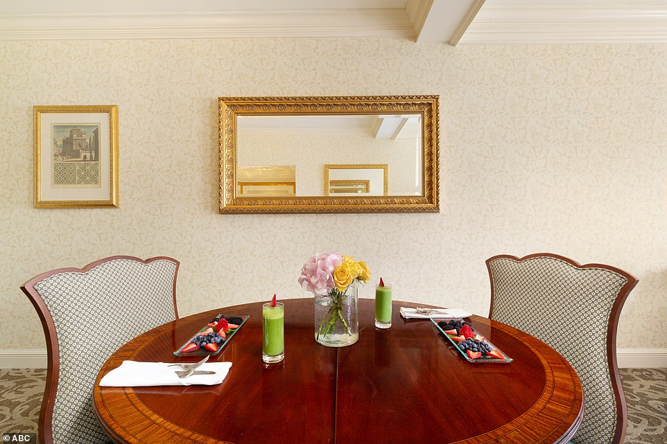 Kick back and relax: Guests can feast on berries and a green smoothie from the comfort of their room