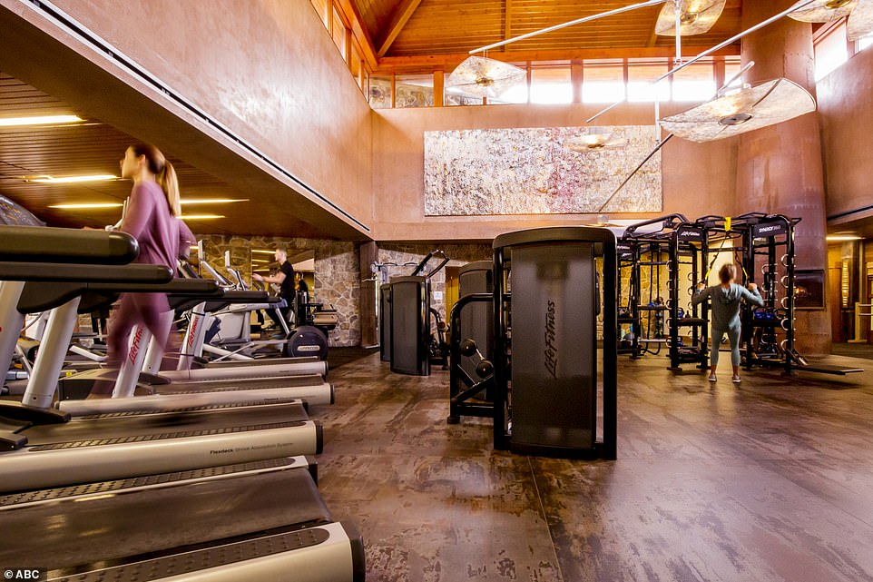Breaking a sweat: A gym allows guests to keep up with their fitness regimen during their vacation