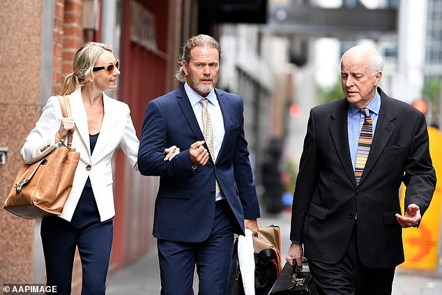 Craig McLachlan's barrister Stuart Littlemore, QC (right) described his client's alleged victims as behaving in a 'slutty' manner