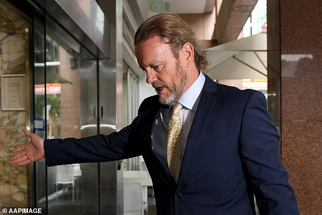 The Australian actor arrives at his barrister's Sydney office last month. He had been giving evidence via videolink