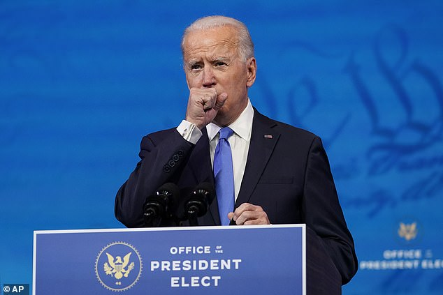 'Respecting the will of the people is at the heart of our democracy, even if we find those results hard to accept,' said Biden ¿ alluding to Trump's refusal to concede or accept the results. Viewers noted his worrisome cough throughout his speech
