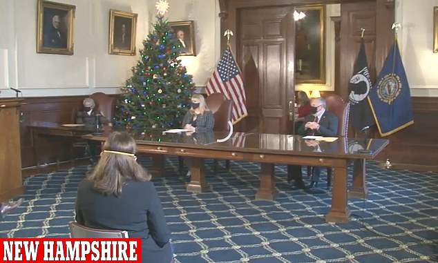 New Hampshire's electors met Monday to cast the state's four votes in favor of Biden