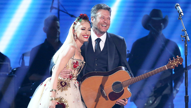 Gwen Stefani Slays In Black & White Crop Top & Skirt For 'The Voice' Finale Performance With Blake Shelton
