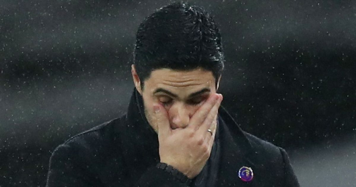 Premier League points comparison table highlights Arsenal's decline under Arteta
