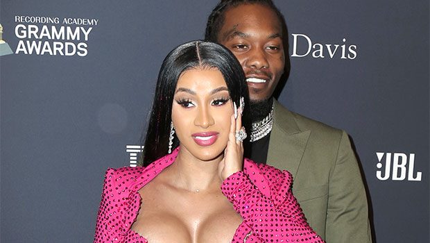 Cardi B Rocks Long Blonde Wig & Hits Up A Crowded Club To Party With Offset For His Birthday