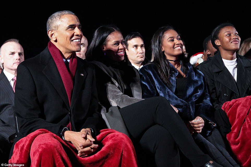 The announcement today means the couple are following in the footsteps of the Obamas (pictured on December 1)