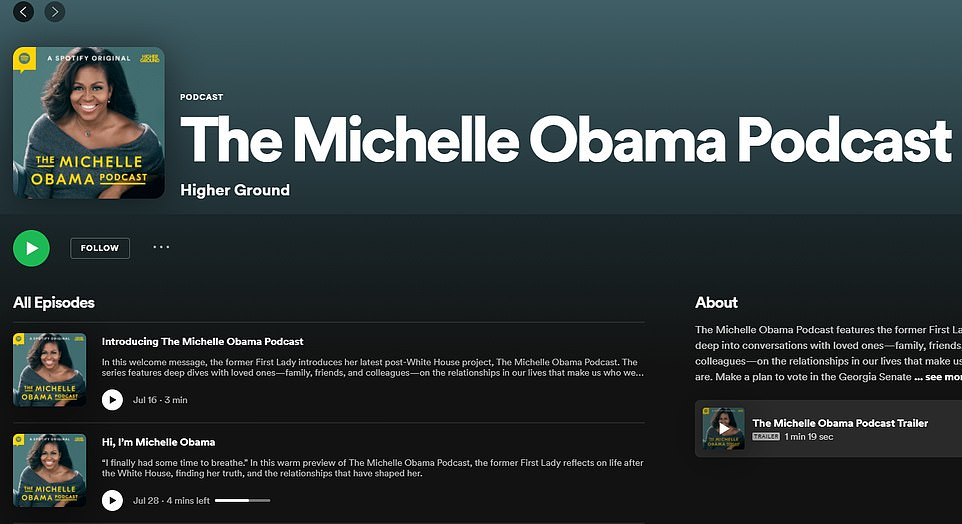 Earlier this year, Michelle Obama launched The Michelle Obama Podcast and had her husband on as one of her first guests