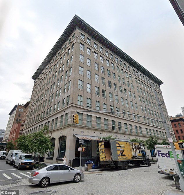 De Los Rios was hired to reside with Egeth t at his plush Tribeca apartment (pictured) above. It was there she was reportedly secretly filmed inside her private bedroom