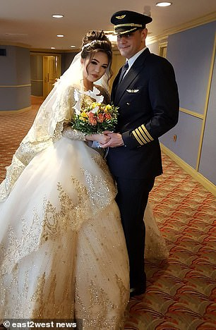 Madina and Mohamed pictured on their wedding day