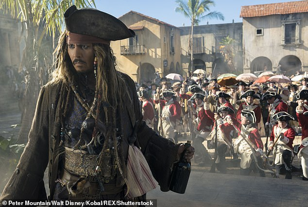 Signature role: Depp had portrayed Captain Jack Sparrow in all five Pirates Of The Caribbean films from 2006 to 2017 which Jerry Bruckheimer produced