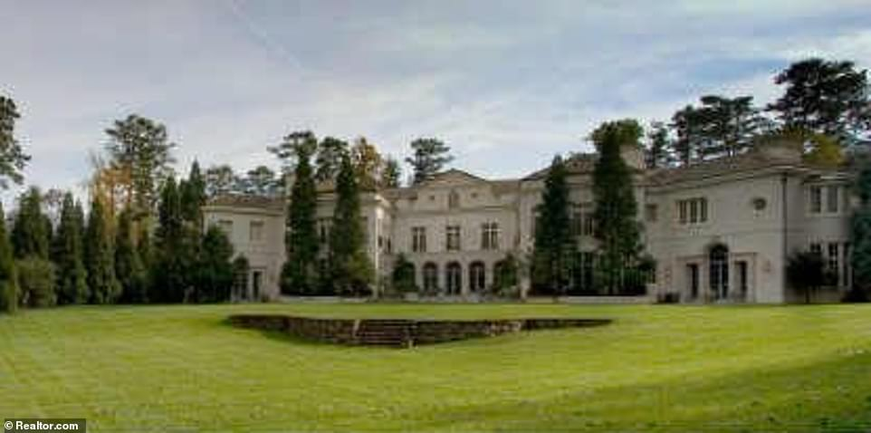 Across the last four years, the value of the four-acre estate, which was built in 1997, has risen to roughly $5 million. However, the couple are still paying around $80,000 less a year than they were when they first purchased the property (Pictured in 2009)