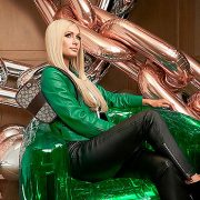 Paris Hilton Looks Marvelous In Christmas Green As She Models New Retro Coach Line: See Pics