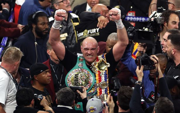 Fury after defeating Deontay Wilder in Las Vegas